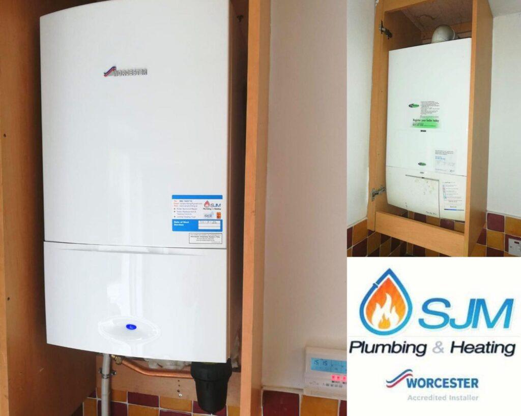 New Boiler Installation Trim