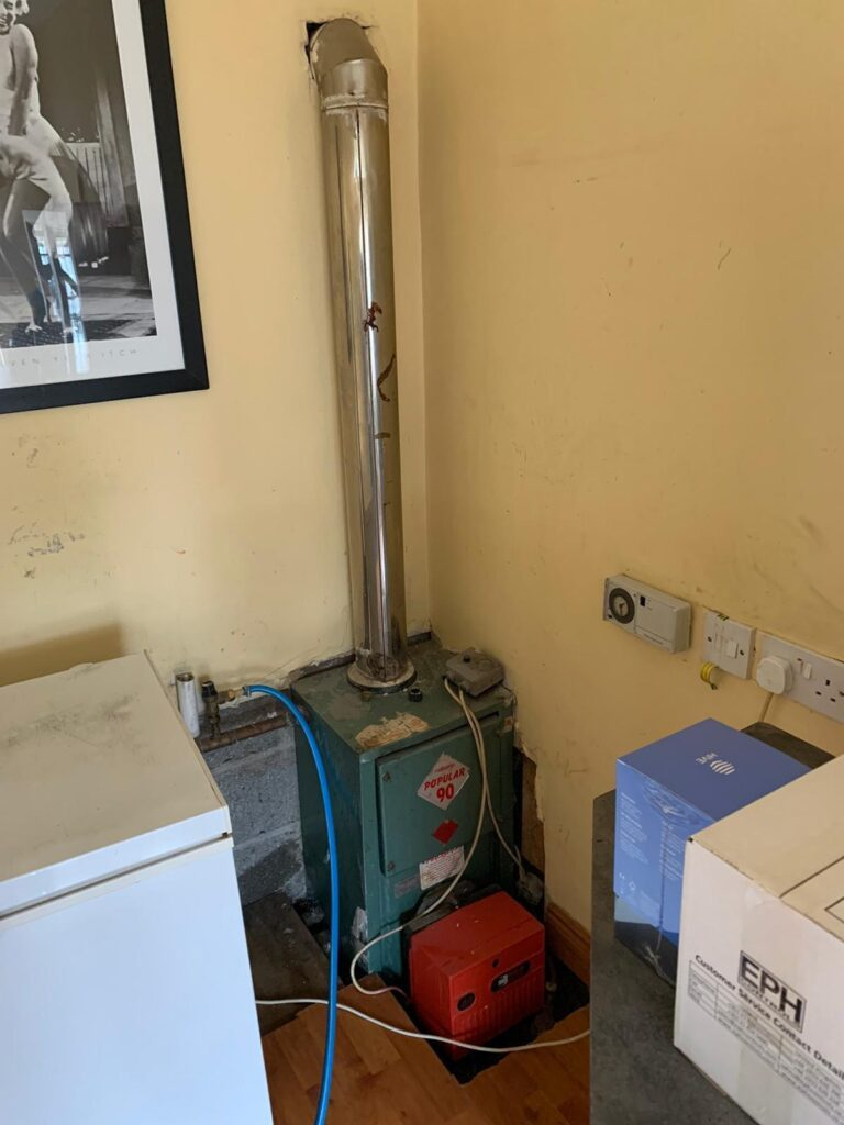 Oil Boiler Replacement Before in Ratoath Meath