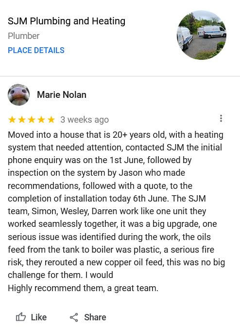 Marie Nolan from Kells, Co. Meath - 5 Star Testimonial